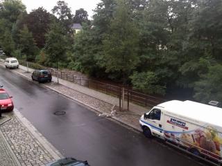 Die Prießnitz führt Hochwasser