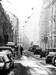 Prießnitzstraße im Winter